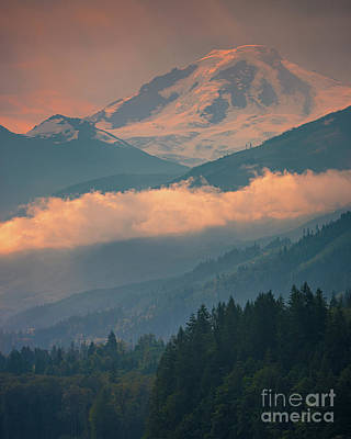 Just Desserts - Sunrise at Mount Baker  by Henk Meijer Photography