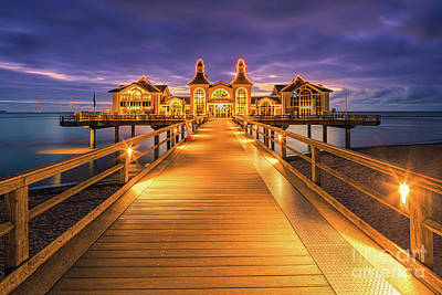 Door Locks And Handles Rights Managed Images - Sunrise at the Sellin Pier 2 Royalty-Free Image by Henk Meijer Photography