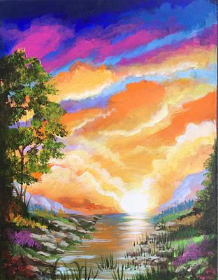 Painting - Sunrise Fantasy by Robert Korhonen