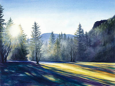 Painting - Sunrise in the Foothills by Jacqueline Tribble