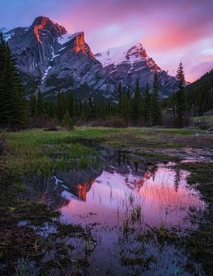 Pittsburgh According To Ron Magnes - Sunrise Mount Kidd, Kananaskis, Alberta, Canada by Yves Gagnon