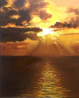 Painting - Sunrise on Fort Lauderdale Beach by Robert Korhonen