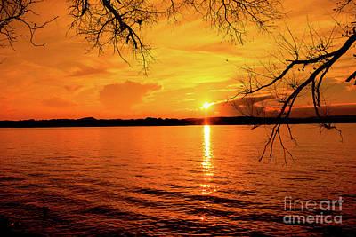 Impressionist Landscapes - Sunrise over Lake Chickamauga by Geraldine DeBoer
