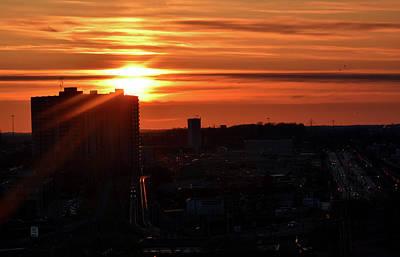 Priska Wettstein Land Shapes Series - Sunrise Over Fairway Road by Maria Keady