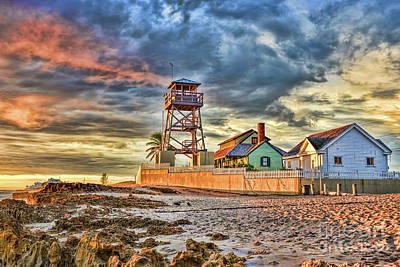Photograph - Sunrise over the House of Refuge on Hutchinson Island by Olga Hamilton