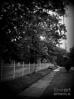 Frank J Casella Royalty-Free and Rights-Managed Images - Sunrise Over The White Fence - Holga  by Frank J Casella