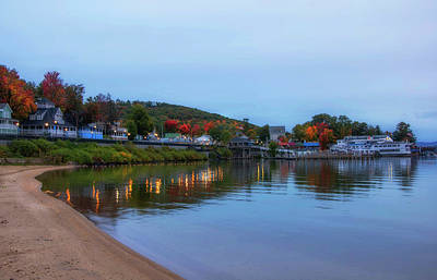 Wilderness Camping - Sunrise over Weirs Beach - Laconia, NH by Joann Vitali