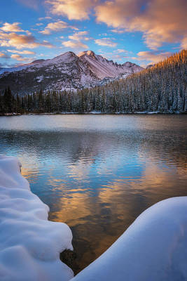 Royalty-Free and Rights-Managed Images - Sunrise Snow at Bear Lake by Darren White