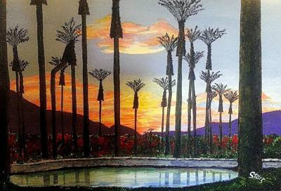 Sports Paintings - Sunrises On A Golf Course by Irving Starr