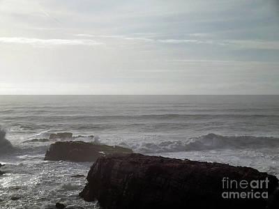 Western Art - Sunset Along the California Coast 1 by Linda Riesenberg Fisler