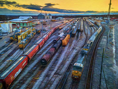 Billiard Balls - Sunset arrival of Northbound CSX Q512-01 by Jim Pearson