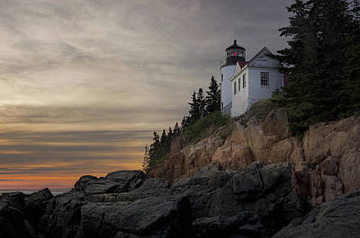 Photograph - Sunset at Bass Harbor by Scott Thomas Images