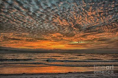 Cartoons Tees - Sunset at Lido Beach by Norman Gabitzsch