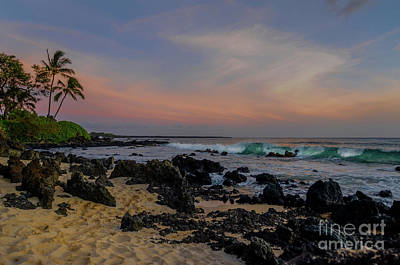 Zen Garden - Sunset at Pa ako Cove by Kelly Wade