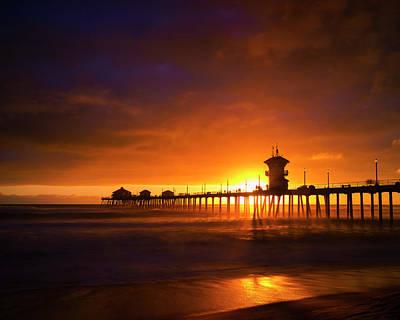 Photograph - Sunset By The Beach by Nazeem Sheik