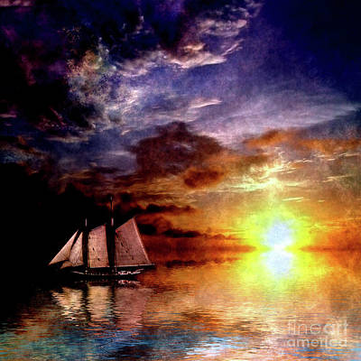 Transportation Digital Art - Sunset Cruise by Bruce Rolff