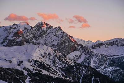 Royalty-Free and Rights-Managed Images - Sunset - Dolomiti Mountains in Italy - Alps - snow covered mountain under cloudy sky during daytime - Dolomiti di Sesto, Italy by Julien