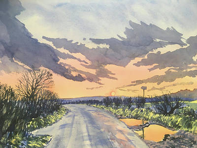 Painting - Sunset Drive on Woldgate by Glenn Marshall