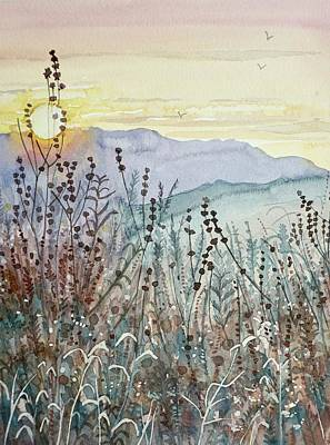 Colored Pencils - Sunset Early Fall by Luisa Millicent