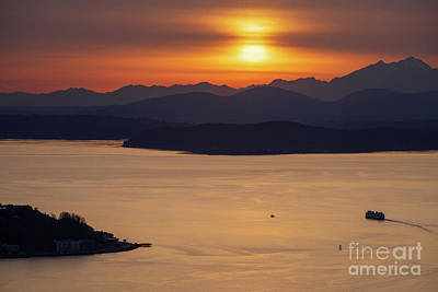 Unicorn Dust - Sunset Ferry Heading to Bremerton by Mike Reid