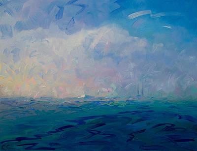 Painting - Sunset Haze over Poolbeg by Catherine Considine