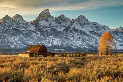 Bringing The Outdoors In - Sunset in Grand Teton National park by Pierre Leclerc Photography