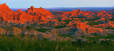 Photograph - Sunset In The Badlands by David Hintz