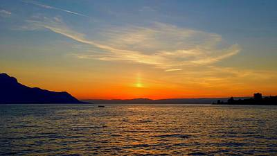 Wild And Wacky Portraits - Sunset, Lake Geneva, Montreux, Vaud, Switzerland. by Joe Vella