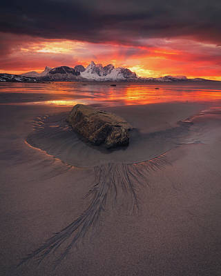 Photograph - Sunset Madness in Steinsvika by Tor-Ivar Naess