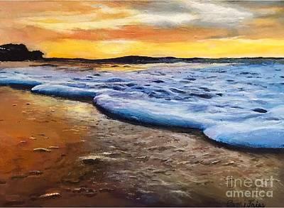 Painting - Sunset on Kealia Beach by Pam Fries