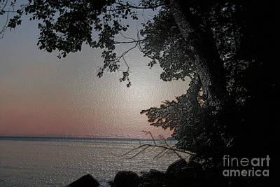 Studio Grafika Zodiac - Sunset on Lake Winnipeg by Mary Mikawoz