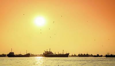Grace Kelly - Sunset on the Karnaphuli River by Alexey Stiop