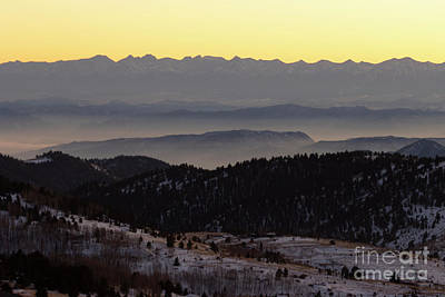 Steven Krull Royalty-Free and Rights-Managed Images - Sunset on the Sangre de Cristo by Steven Krull