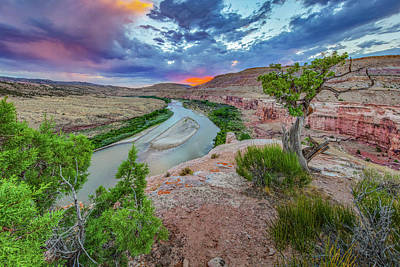 Vintage Pharmacy - Sunset over the Colorado River 7172 by Rob Greebon