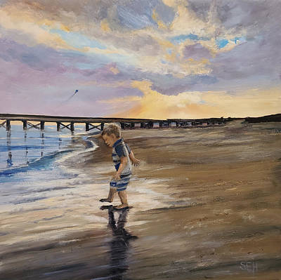 Painting - Sunset Sand Dance by Susan E Hanna
