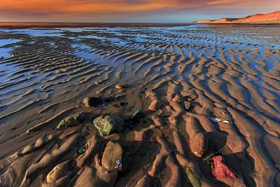 Photograph - Sunset Sand Ripples Great Island Wellfleet by Dapixara Art