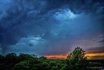 Stellar Interstellar Royalty Free Images - Sunset Storms Royalty-Free Image by Wayne Higgs