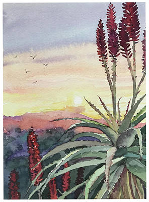 From The Kitchen -  Sunset Topanga by Luisa Millicent