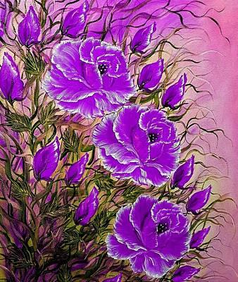 Car Photos Douglas Pittman - Sunshine roses purple  by Angela Whitehouse