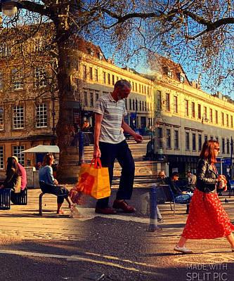 Surrealism Digital Art - Sunshine Square Triangle by Steve Swindells