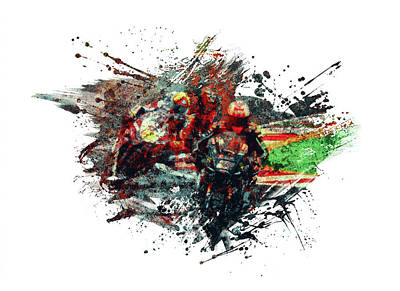 Sports Royalty-Free and Rights-Managed Images - Superbikes by All Sport Art