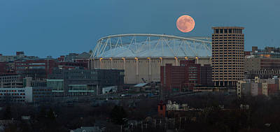 Sports Royalty-Free and Rights-Managed Images - Supermoon Over The Dome by Everet Regal