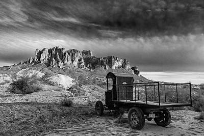 Caravaggio - Superstition Mountain View B-W by Tom Clark
