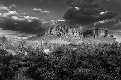 Michael Jackson - Superstition Mountains Black and White by Chance Kafka