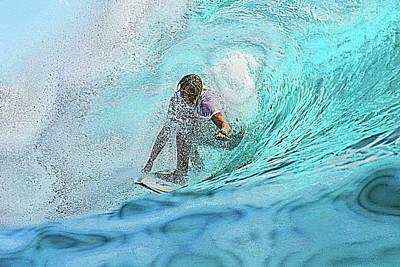 Photograph - Surf 'n the  Wash by Mediamerge - Dan Roitner