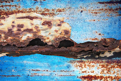Royalty-Free and Rights-Managed Images - Surface rust on the surface, blue by Julien