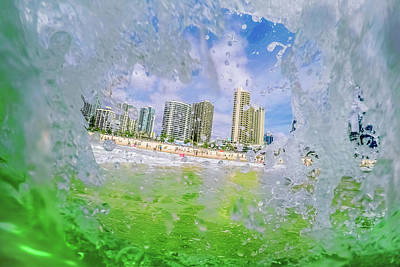 Royalty-Free and Rights-Managed Images - Surfers Peephole by Az Jackson