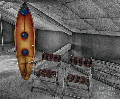 Photograph - Surfing in the Attic  by Steven Digman