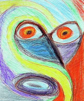 Surrealism Drawings Royalty Free Images - Surprise Royalty-Free Image by David Lee Thompson