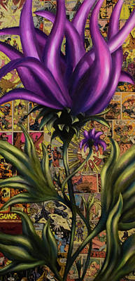 Best Sellers - Surrealism Royalty-Free and Rights-Managed Images - Surreal Comic Floral  by Paul Gobell